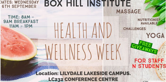 LILYDALE LAKESIDE Health & Wellbeing Day TODAY 11am - 1pm LC232