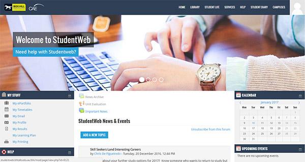 New StudentWeb